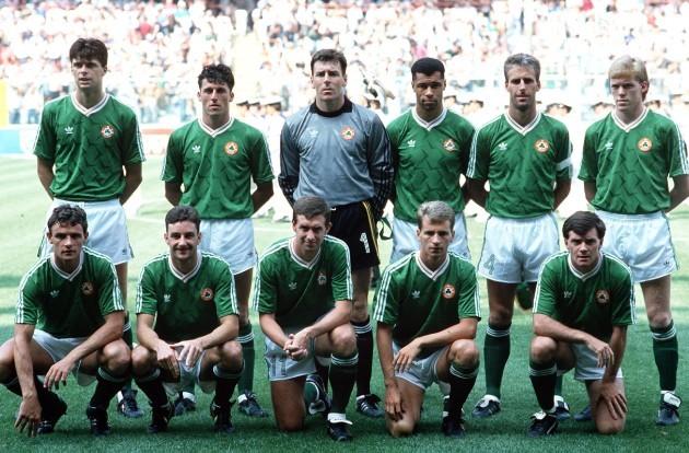 The Ireland team 1990