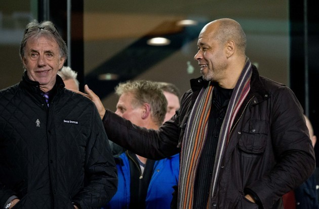 Mark Lawrenson with Paul McGrath