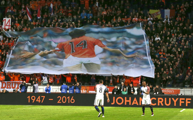 Netherlands Soccer France Cruyff