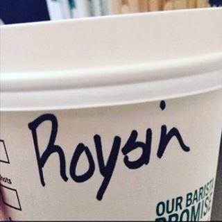 A classic Roisin attempt here..☘ #roisin #irishgirl #irishstarbucksnames
