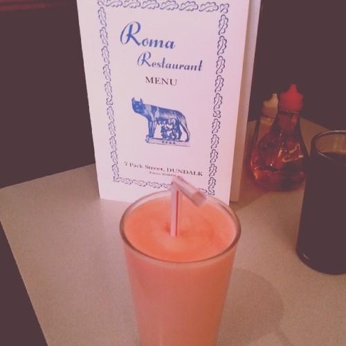 Perfection in the Roma Dundalk. #romadundalk #strawberrymilkshake #memories #childhood #gorgeous