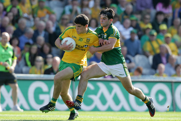 Stephen McBrearty with Cormac Coffey