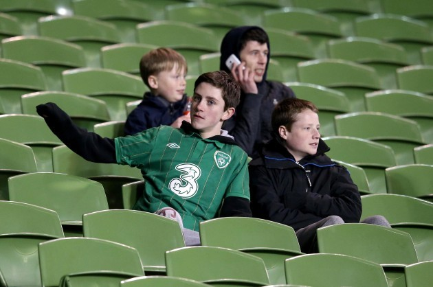 Republic of Ireland fans at the game