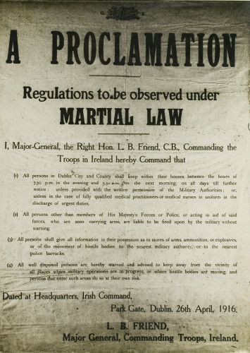 Martial law proclamation