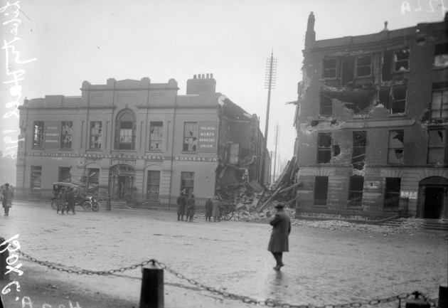 Liberty Hall in ruins