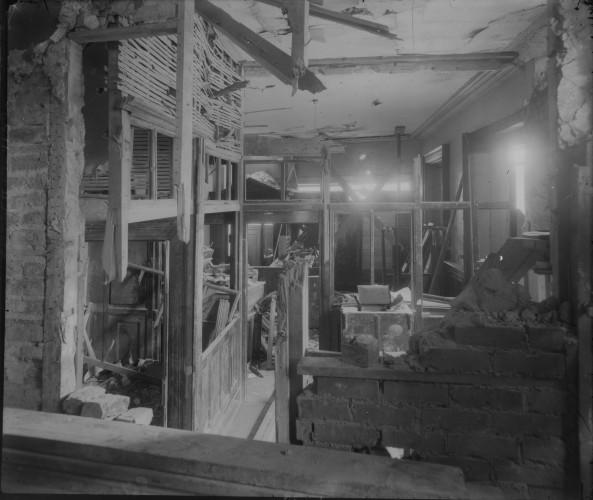 Liberty Hall in ruins interior
