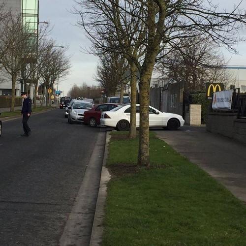 Garda directing traffic at McDonalds this morning