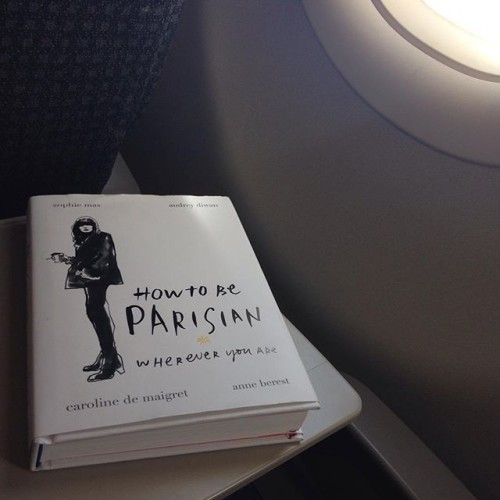 Some light reading - getting into the right mindset for #pfw #parisfashionweek #howtobeparisian #planereading #longweekend #melbtosyd