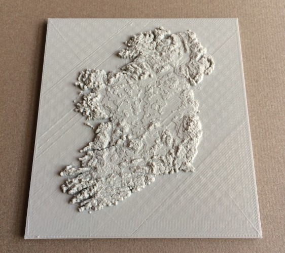 Print Map Of Ireland.A Guy Has Designed This Amazing Map Of Ireland For People To 3d Print