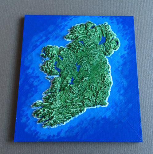 photograph about Printable Maps of Ireland titled A male consists of produced this remarkable map of Eire for folks in direction of
