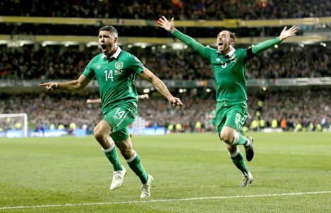 Jonathan Walters celebrates scoring his second goal