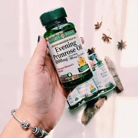 Evening Primrose Oil của hãng Nature's Bounty - Hộp 60v/ 390k Tác dụng: -Cân bằng các hormone sinh sản của phụ nữ