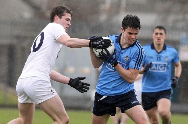 Con Kavanagh tackles Martin Cahilan