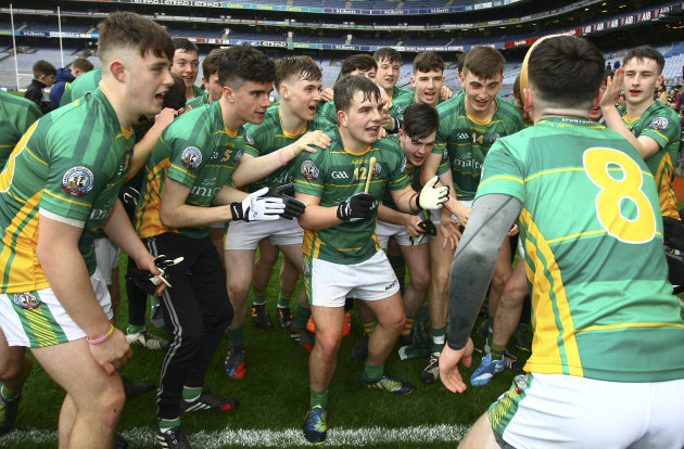 Peter McCarthy leads the celebrations for St Brendans
