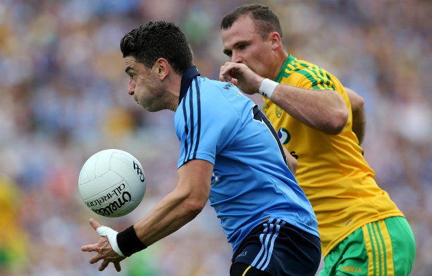 Bernard Brogan with Neil McGee