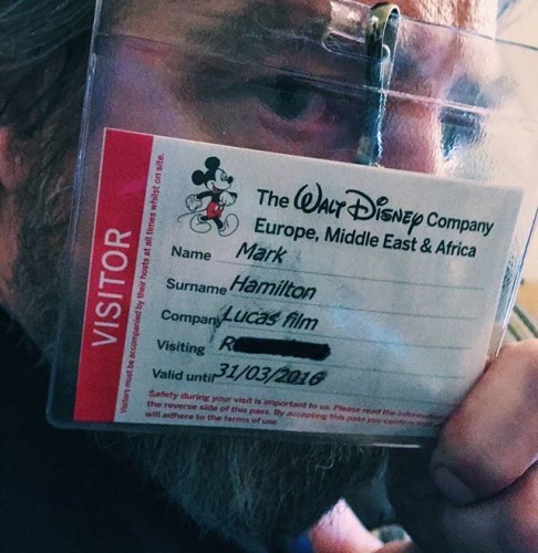 How famous am I? An actual Security Pass I got for a Disney London Office visit. That's MISTER Hamilton to you! #AndYouAre? #MarkHamilton