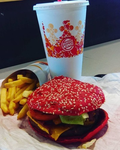 Life is better spicy! #TheBunIsRed #AngriestWhopper #N MyMouthIsOnFire