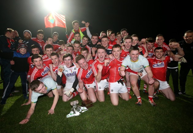 Cork with the trophy after the game