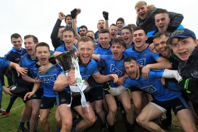 Dublin team celebrate victory