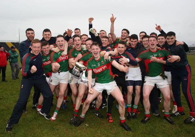 The Mayo players celebrate