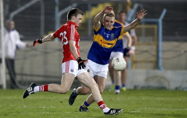 Cian Dorgan misses with the last kick of the game to level the match