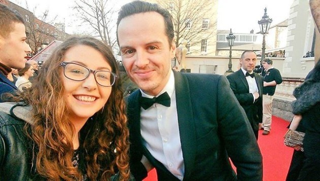 *NEW* Andrew Scott at the IFTA Awards 2016 this evening.