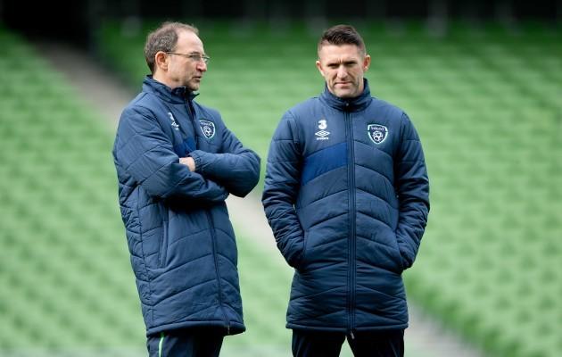 Martin O'Neill with Robbie Keane