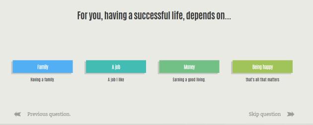 Survey Q happy life