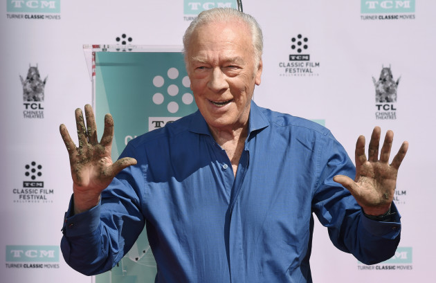 Christopher Plummer Hand and Footprint Ceremony - Los Angeles