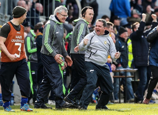Davy Fitzgerald celebrates at the final whistle