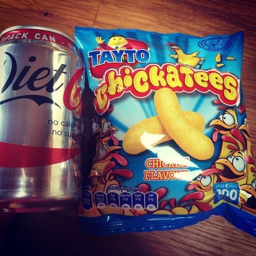 #slimmingworld #cheeky #snack #chickatees #dietcoke 4.5syns