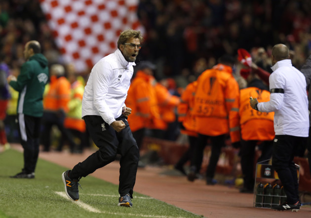 Liverpool v Borussia Dortmund - UEFA Europa League - Quarter Final - Second Leg - Anfield