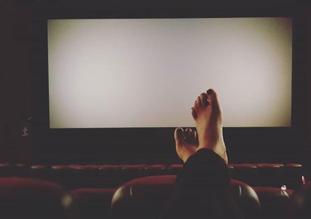 Kicking back to watch a movie #metime #emptycinema @merimanus