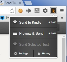 This is how you can send web articles to your Kindle for