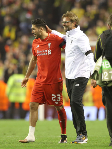 Liverpool v Borussia Dortmund - UEFA Europa League - Quarter Final - Second Leg - Anfield
