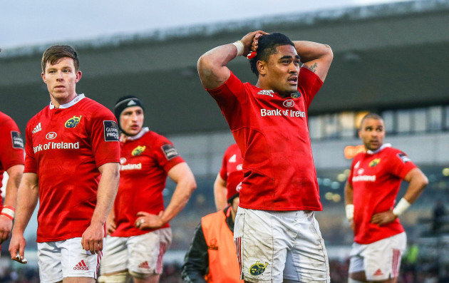 Francis Saili dejected after Connacht scored there third try