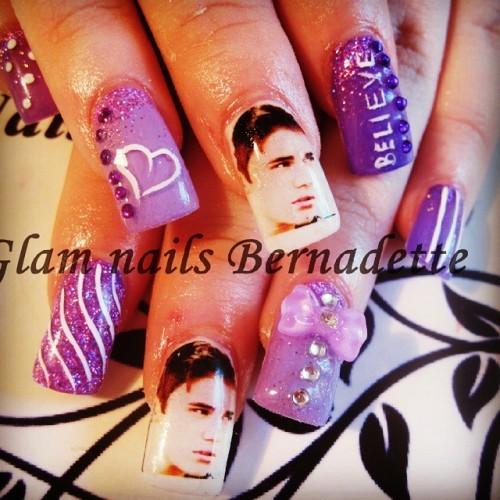 #justin #justinbieber #justinbiebernails #gelnails #gelnailscork #purplenails #celebritynails #justinfans #glamnailsbernadette #squarenails #tips