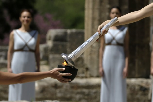Greece Rio Olympics Flame Lighting