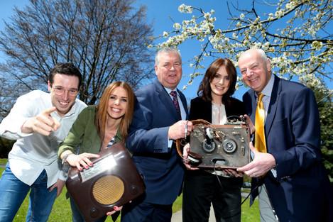 l-r Eoin Conlon, Boys and Girls, Jenny Greene, RTE, Joe Duffy RTE, Dee Woods, Radio Nova and Bobby Kerr, Newstalk