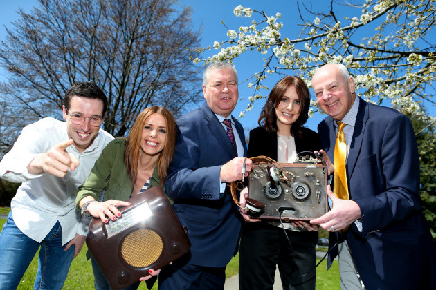 l-r Eoin Conlon, Boys and Girls, Jenny Greene, RTE, Joe Duffy RTE, Dee Woods, Radio Nova and Bobby Kerr, Newstalk