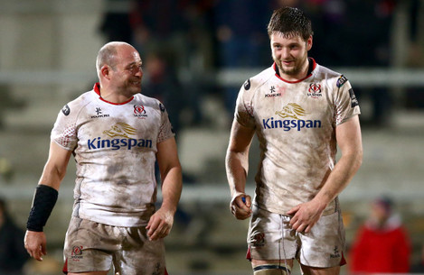 Rory Best and Iain Henderson after the game