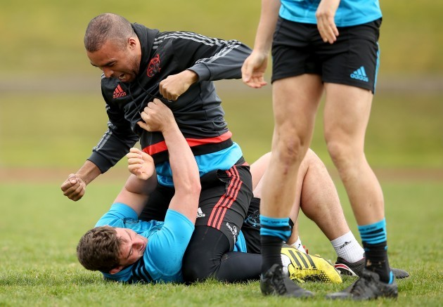 Ian Keatley and Simon Zebo