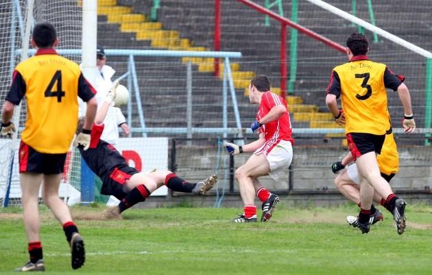 Colm O'Driscoll scores a goal