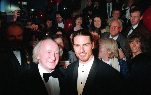 TOM CRUISE IN IRELAND 1995 HOLLYWOOD FILM STARS