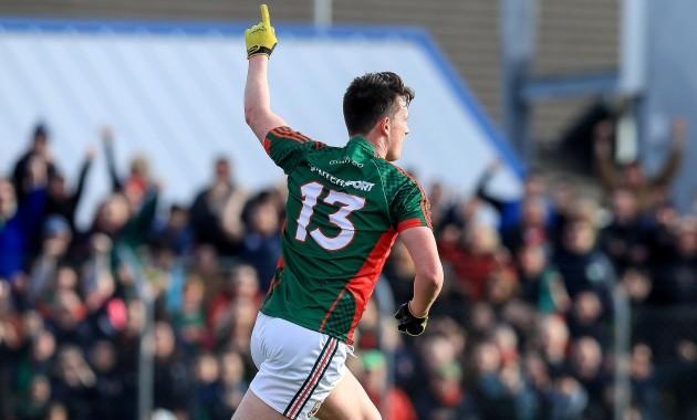Liam Irwin celebrates scoring his sides second goal