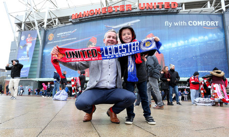 Manchester United v Leicester City - Barclays Premier League - Old Trafford