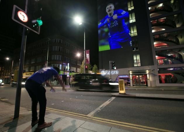 Leicester City Fans Watch Chelsea v Tottenham Hotspur