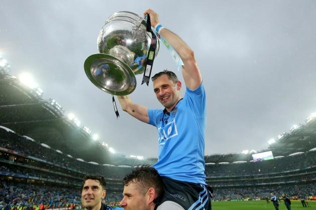 Alan Brogan celebrates with the Sam Maguire trophy