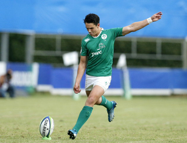 Joey Carbery takes a kick at goal