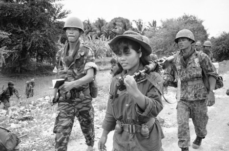 Cambodia Cambodian Troops Women Soldiers